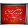 Placa Coca Cola Propaganda Antiga