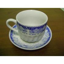 Xícara Antiga Chá Porcelana Bela Vista Pedreira Handmade