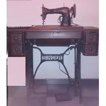 Máquina De Costura Singer Ano 1880 Funcionando C/ Motor Arno