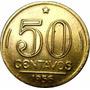 Moeda Antiga 1950 De 50 Centavos Presidente Dutra Brasil