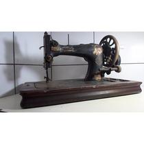 Maquina De Costura Antiga Muller Alemã Manual Linda