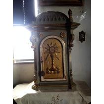 Arte Sacra Antiguidade: Sacrário De Madeira Antigo.