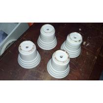 Pé De Geladeira De Louça/porcelana Antiguidade (jogo Com 4)