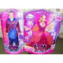 3 Barbie Castelo De Diamante - Liana Principe Cavalo