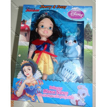Mini Boneca Princesas Disney Junior Branca De Neve + Brindes