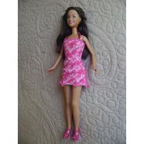 Linda Boneca Barbie Morena/mulata Mattel Excelente Estado