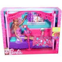 Mattel Barbie Real Com Móveis De Quarto -x7941