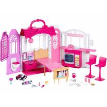 Nova Casa De Férias Barbie Com Luz E Som Mattel