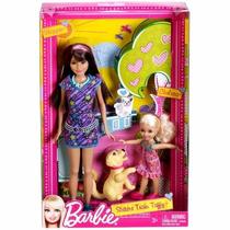 Barbie-dupla De Irmãs Treino Da Taffy Mattel W3284