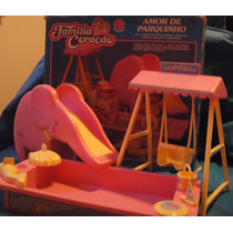 Barbie Família Coração Amor De Parquinho Anos 80