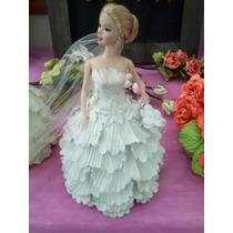 Barbie Noiva Original Vestido Artesanal