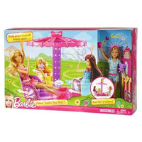 Boneca Barbie Irmãs Parque Carrosel Brinquedo Menina Mattel
