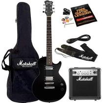 Kit Guitarra + Amplificador Marshall + Afinador + Acessorios