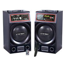 Caixa Eterny Et43012ab, 2x100 Rms + Controle E Microfone