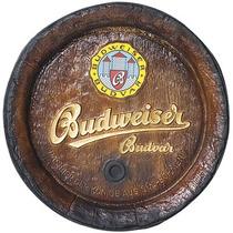 Tampa De Barril Decorativa Grande Budweiser - Frete Grátis