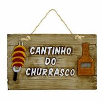 Placa Em Resina - Cantinho Do Churrasco