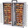 Churrasqueira Assador 20 Espetinhos A Gás Em Aço Inox Arke