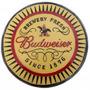 Placa Quadro Vintage Tampa Gigante Cerveja Budweiser 35cm
