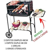 Churrasqueira Portatil Grill Kit Churrasco Pre Espeto #sidc