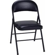 Cadeira Dobrável Preta Estofada Evento Reunião E Palestras