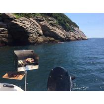 Churrasqueira Inox Lancha, Nautica Portatil. Bruce Inox Cx36