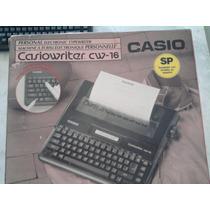 Máquina De Escrever Eletrônica Casiowriter Cw16 Oportunidade