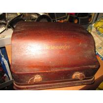 Antiga Máquina De Escrever Made In Usa Caixa De Madeira Rara