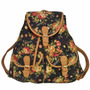 Pronta Entrega Mochila Bolsa Feminina Vintage Floral
