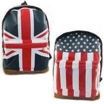 Mochila Escolar Bandeira Da Inglaterra E Estados Unidos