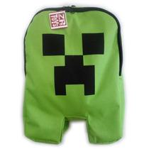 Mochila Minecraft Creeper Com Ziper Formato Do Desenho Jogo