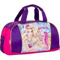 Bolsa Sacola Barbie Sereia Perolas Infantil Menina Sestini
