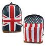Mochila Bandeira Uk, Usa, Eua, Inglaterra - Frete Grátis !!