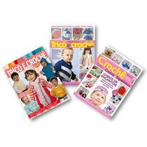 Lote De 3 Revistas - Trico E Crochê Bebê Gorros E Sapatinhos
