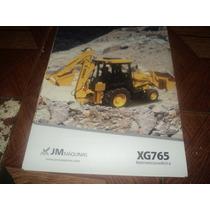 Trator Jm Maquinas Xg765 Retroescavadeira Folheto Simples