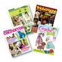 Lote De 4 Revistas Moda Pet Tecido Tricô E Crochê Com Moldes