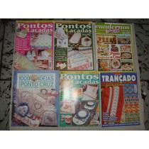 Coleção Revistas Ponto Cruz Trico Crochê - Bordados Enxoval
