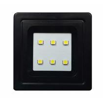 Spot Preto Quadrado Embutir P/ Móveis 6 Leds 0,5w Luminária