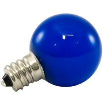 25pk - G30 Globo Led 0.5w Vidro 120v E12 Azul Pode Ser Escur