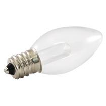25pk - C7 Led Transparente Vidro 0.5w 120v E12 5500k Branco