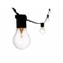 Varal De Lampadas - Luzes Cordão Iluminação 10m Preto