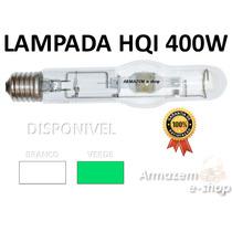 Lampada Hqi Para Refletor De Fachada Luz Na Cor Verde 400w