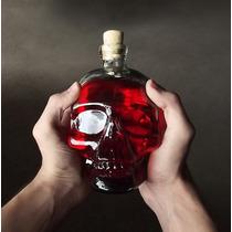 Garrafa Caveira Skull Head - 750ml Whisky Vodka Tequila