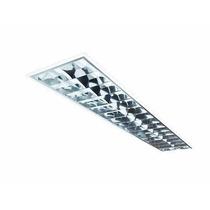 Luminária Fluorescente T8 T12 Com Refletor Em Alumínio