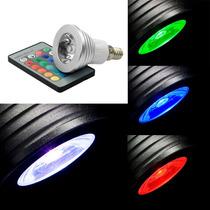 Led Spot Lâmpada De Iluminação Rgb 16 Cores Em Mudança 3