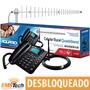 Kit Celular Aquário Ca-42 2 Chips Cabo 15m Antena Quadriband