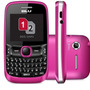 Celular Barato Blu Q190 Tattoo Mini Rosa Dual Chip Qwerty Ca