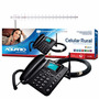 Kit Celular Ca-902 2 Chips Ca-42 + Cabo 15m + Antena 17 Dbi