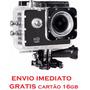 Câmera Ação + Acessorios+ Suportes Tipo Go Proe+ Sd 16gb