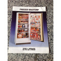 Folheto Propaganda Antiga Freezer Brastemp 270 Litros