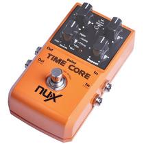Pedal De Guitarra Nux Time Core -7 Efeitos De Delay Com Loop